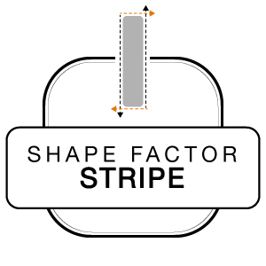 Shape Factor Stripe